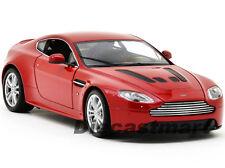 WELLY 1:24 2012 ASTON MARTIN V12 VANTAGE NEW DIECAST MODEL CAR METALLIC RED
