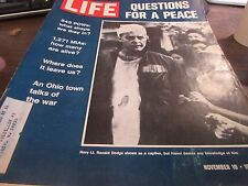 VINTAGE LIFE - NOVEMBER 10TH 1972 - QUESTIONS FOR PEACE   - V-GOOD