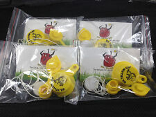 4X - Packs - 1 BLITZ Yellow Spout Cap and 1 Vent Cap, per Pack -  16 pcs total