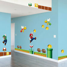 Large Super Mario Wall Stickers Decal Vinyl Children Bedroom Home Decoration