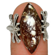 Dragonfly - Wild Horse 925 Silver Jewelry Ring s.7 AR167317