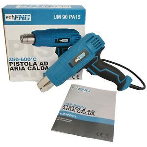 Pistola termica ad aria calda termosoffiatore 230V 600°C - echoENG - UM 90 PA15