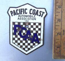 Vintage Pcaa Pacific Coast Ca Porcelain Enamel Rally Badge Pca Porsche 356 911