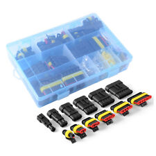 10 Kits 4 Pin Way Waterproof Connector 1.5mm Wire Terminal Socket Plug Car AUTO