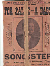 1904 For Sale A Baby Charles K Harris Songster W M Delaney 117 Park Row N Y