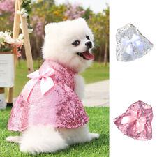 Princess Dress Wedding Clothes For Pets Dog Clothes Pet Skirt Sequin Skirt