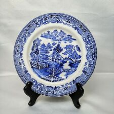 More details for green & co ltd gresley england willow blue plate 10