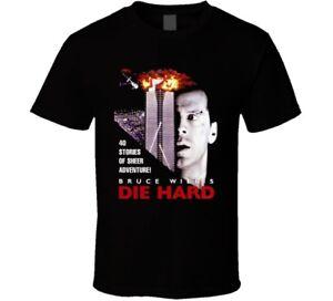 Die Hard Bruce Willis Retro Action Movie T Shirt