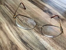 Vintage Tura Eyeglasses Tortoise And Gold Eyeglasses Frames Japan 53-17