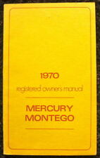 MERCURY 1970 MONTEGO ILLUSTRATED OWNER'S MANUAL #LM-3691-IMC-70