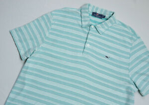 Vineyard Vines PIMA Cotton Polo shirt mens Short Sleeve top size L Large blue