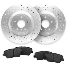 For C400, C300, C350e Rear Cross Drilled Brake Rotors + Ceramic Pads