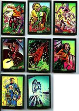 Plasm Zero Holofoil Cards #1 thru #8 card set  nm/m  Defiant 1993 Z3