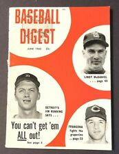 VINTAGE BASEBALL DIGEST JIM BUNNING JUNE 1960 VOL 19 NO 5
