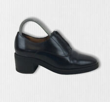 COS Black Leather Block Heeled Shoes Lace Up Womens EUR 38 / UK 5