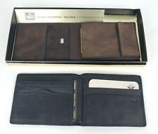 Lot Of (2) Mens Leather Wallets - Dockers, Roles