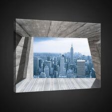 CANVAS WANDBILD LEINWANDBILD FOTO TERRASSE STADT 3D HIMMEL NEW YORK  3FX2310O1
