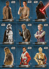 Star Wars Force Awakens Series 2 ~ CHARACTER STICKERS 18-Card Insert Set