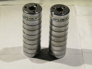 Old School Pair Haro Fusion Pegs Chrome Bmx Vintage Bike