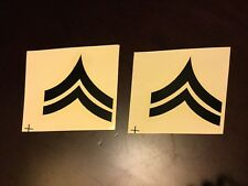 Vietnam US Army Rank Insignia Sticker Decals For Helmet Liners Corporal