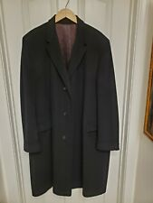 Men's SUMMIT 100% Mongolian Cashmere Black Long Coat XXL from Cotrell's