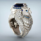Creative Women Jewelry Gifts Cubic Zircon 925 Silver,gold Ring For Girls Sz 6-10