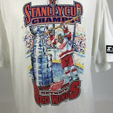 Starter Mens T Shirt 1998 Stanley Cup Detroit Red Wings New Deadstock XL
