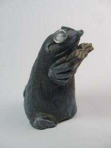 NOVELTY FIGURINE Detailed Resin Mole Reading a Book