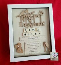 ENGAGEMENT GIFT PICTURE FRAME PERSONALISED KEEPSAKE PRESENT ENGAGED SCRABBLE