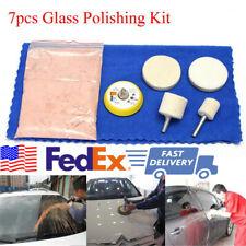 70g Cerium Oxide Glass Polishing Kit Car Windscreen Scratch Removal Set 7 Pcs US