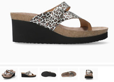 Mephisto Tyfanie Brown Panther Wedge Comfort Sandal Women's sizes 35-42 NEW