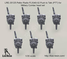 Live Resin 1:35 Peltor Radio FL5040-02 Push to Talk (PTT) for Military LRE35125*