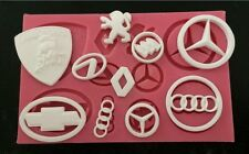 New Car Logo 3D Silicone Fondant Cake Mold Tools  Decoration birthday topper