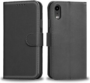 Luxury Case For IPhone X XR XS Max Side Flip Leather Wallet Cover Card Pockets