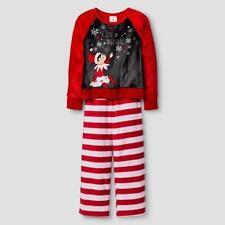 NEW Elf of the Shelf Size XS 4 5 4T 5T Pajamas 2 pc Let it Snow Fleece Girls NWT