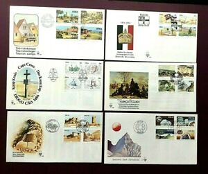 SOUTH WEST AFRICA 1979-1987 - FIRST DAY COVERS X 6 - EXCELLENT CONDITION