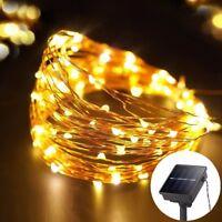 10m 100 Led Solar Power Fairy Light String Lamp Party Xmas Deco Garden Outdoor