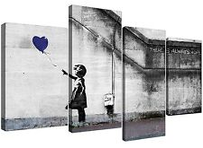 Canvas Pictures of Banksy Balloon Girl in Blue for your Study