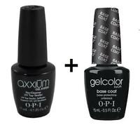 OPI GelColor AXXIUM NO-CLEANSE Top Coat & Base Coat SET 2x15ml Nail Polish SALE!