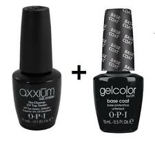 OPI Gelcolor Axxium NO-detergere Top Coat & Base Coat Set 2x15ml SMALTO vendita!