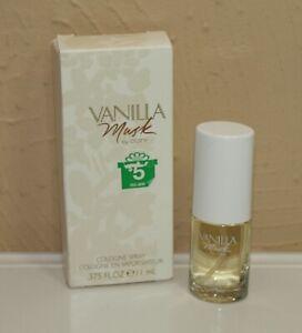 Coty VANILLA MUSK Cologne Spray .375 oz 11 ml NIB