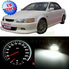 Gauge Cluster White Bulbs + Climate Control LED Kit For 1998-2002 Honda Accord