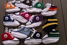 Babyschuhe (Chucks) selbst gehäkelt, freie Farbwahl , 100 % Baumwolle