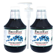 """Wild Blueberry Juice Concentrate """"Cold Filled"""" TWO QUART -with Handy Juice Pump"""