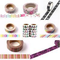 New Washi Tape Japanese Style Paper Masking Tape  FREE P&P 50+ Designs To Choose