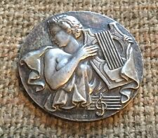 Silver Plated Harpist Medal by R. Pelletier