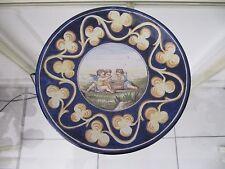 belle assiette faience de Nevers décor italien 3 cherubins ep 19ème