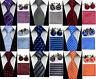 Men's Polyester Tie, Cufflinks, Hanky Set | Symmetric, Square, Stripe Design
