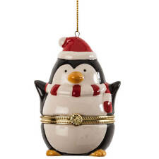 Penguin Trinket Box– Surprise Ornament Box fill to gift money, jewelry,