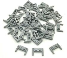 Lego 50 New Light Bluish Gray Plates Modified 1 x 2 with Handles Pieces
